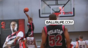 Air Up There &#8211; Sick In Game Reachback Dunk @BALLUP Game