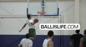 Tony Mitchell- OFF the BACKBOARD SUPERMAN DUNK!