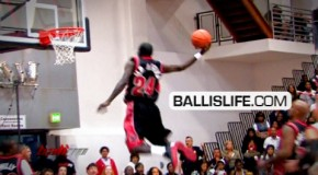 AO CRAZY Behind Back Off Backboard Pass To SICK Dunk By Afrika @ Ball Up Game!!
