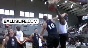 DOD: 6'5′ Dominique Sutton Goes Over Top of Mason Plumlee at NC Pro-Am (NCCU transfer from K-State)