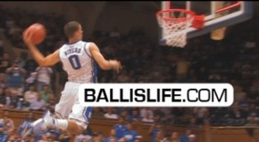 Austin Rivers is Introduced to Cameron Indoor: Crazies Go WILD at 2011 DUKE Midnight Madness