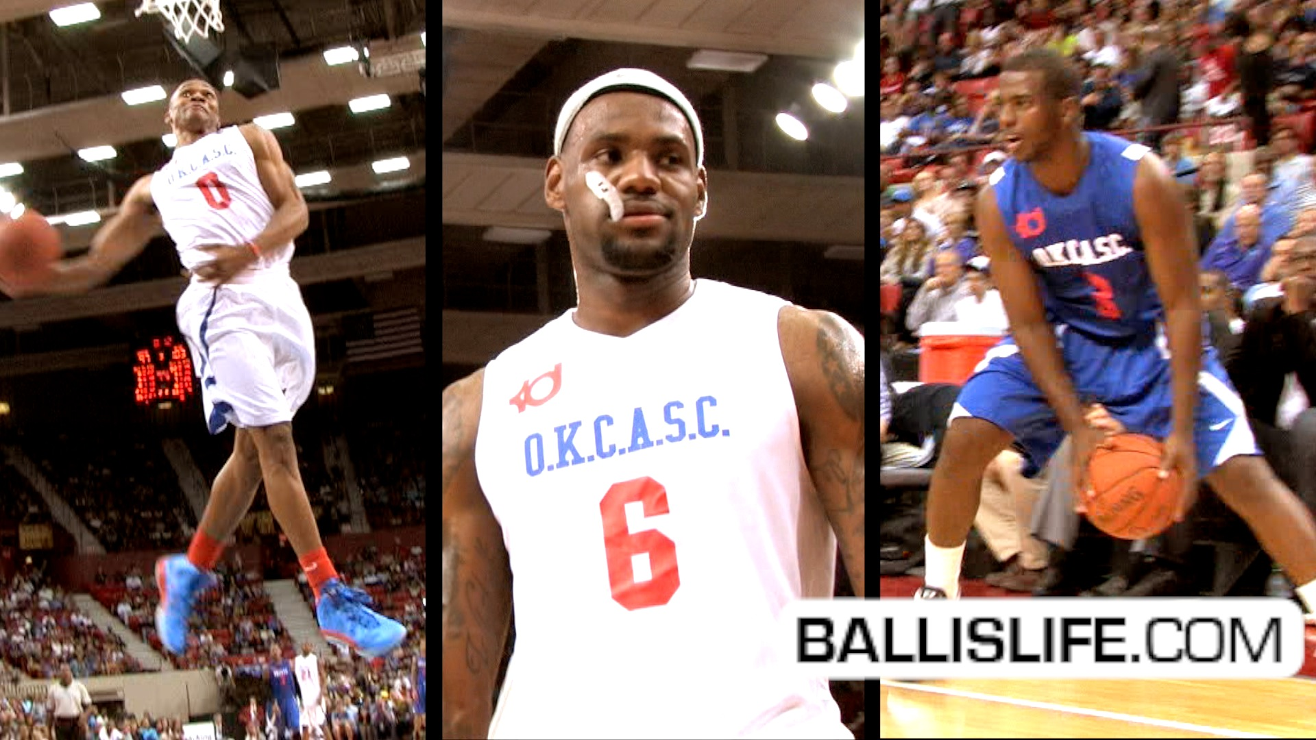 Ballislife | Westbrook, LBJ, and CP3 at OKC in NBA Lockout