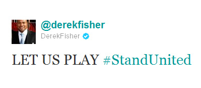"Derek Fisher Tweets ""Let Us Play #StayUnited"" Starts Trending Topic"