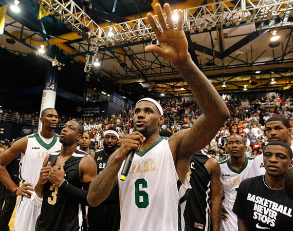 Watch The Entire South Florida All-Star Classic: Team LeBron vs Team Wade