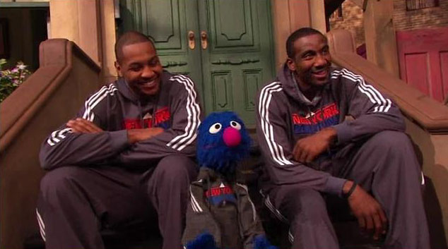 More Acting For Carmelo | Melo & Amare return to Sesame Street