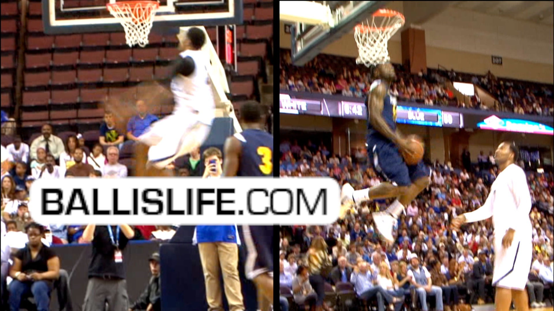 Ballislife | Terrico White & Rudy Gay during NBA Lockout