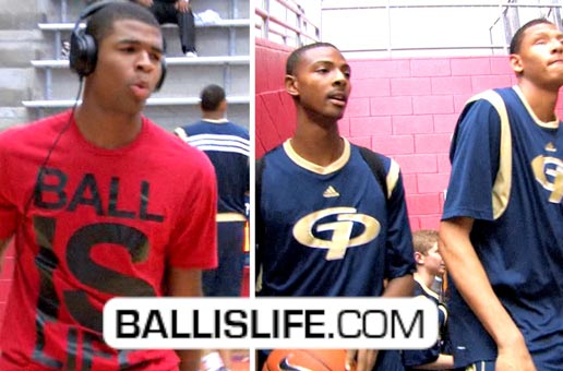 Ballislife | Harrison Twins vs Isaiah Austin & Jordan Mickey