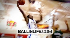 6&#8242; Brandon Randolph Drives Baseline For Sick One Handed Dunk