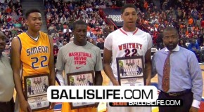 #1 Simeon (Jabari Parker) vs #2 Whitney Young HS (Jahlil Okafor) in front of D Rose + 6,000 fans