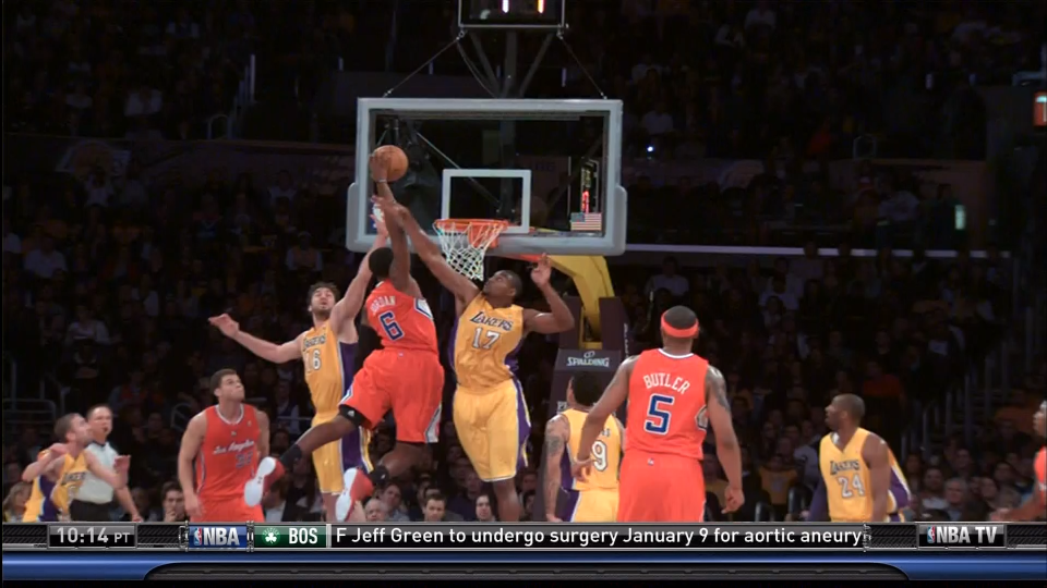 DeAndre Jordan With Two Nasty Dunks Against The Lakers In Preseason Action