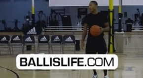 Derrick Rose-Reigning NBA MVP-Chicago Bulls-Makes A Lefthanded Halfcourt Shot