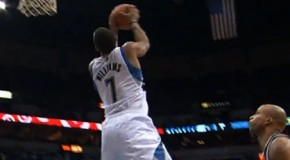 Assist of the Night: Rubio to Derrick Williams for the reverse alley oop