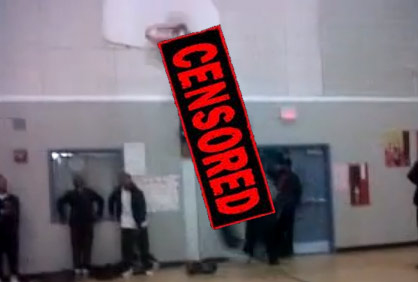 Warning: Watching this kid get dunked on is actually disturbing and painful