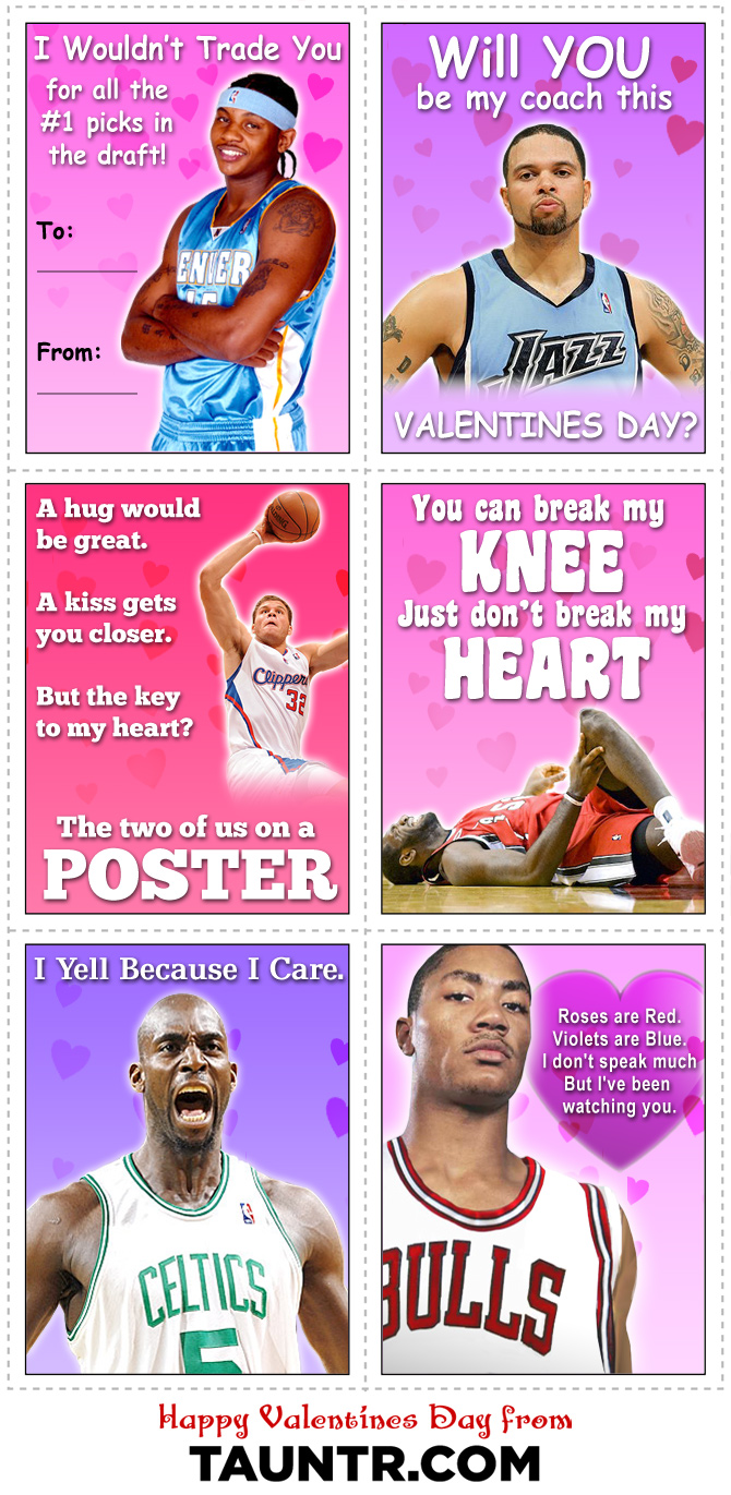 Best NBA Valentines Day Cards Ever – To from Valentine Cards