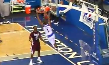 Darrion Pellum With The SICK T-Mac Off The Backboard Oop!