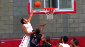 Xavier Johnson; Nasty 1 Hand Putback Dunk All Over Defender