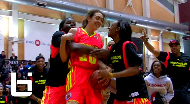 Girl Dunks Twice! 6'3″ Breanna Stewart Puts Down 2 Dunks In McDonald's All American Dunk Contest!