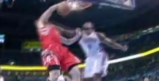 Chandler Parsons POSTERIZES Serge Ibaka!!