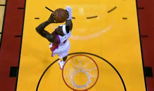 LeBron throws down the 360! First 360 Of His Career!?