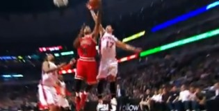 Jeremy Lin Blocks Derrick Rose | Career High in 1st half