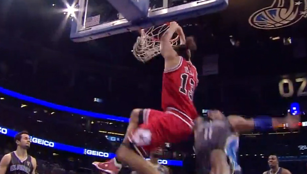 Dunk of the Night: Noah on Big Baby (Does anybody know how to post videos to Facebook?)