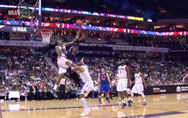 Dunk of the night: Amare posterizes Tyrus Thomas