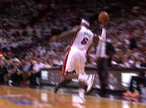 Assist of the Night: LeBron's 1 hand catch and pass to Wade for the dunk