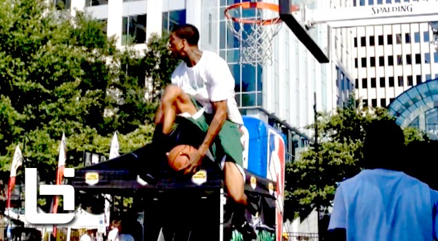 6'6″ Gary Smith NEVER Before Seen Dunk! Off The Side Of Backboard REVERSE Eastbay Dunk!