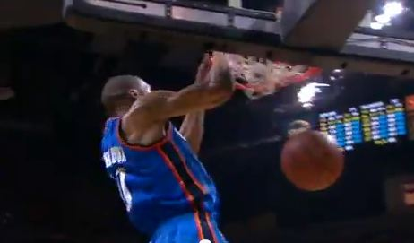 Russell Westbrook VICIOUS 2 Hand Oop From Kevin Durant! Russell Westbrook And Kevin Durant Alley Oop