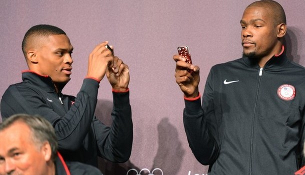 Russell Westbrook and Kevin Durant of th