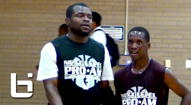 Chicago Pro-Am kickoff: Little 5'7 Derrick Randolph (Class of 2012) ballin' vs Detroit Pistons 6'0 Will Bynum