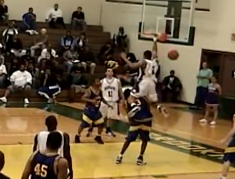 Houston's Brian Towner baseline dunk over 6'7 player