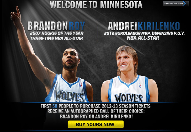Timberwolves make Brandon Roy & Ak47 the faces of the franchise?