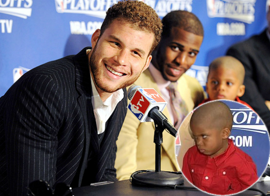 """Chris Paul's Kid asks for a dollar to """"show the Blake Face"""""""