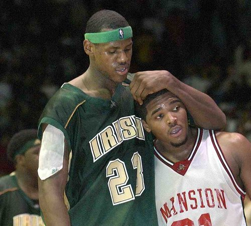 Maureece Rice breaks LeBron's ankles in HS in front of Iverson