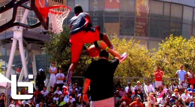 Jus Fly KILLS The Reverse Dunk Over 6'8″ Dude & Wins Nike 3 on 3 Dunk Contest! Also featuring: Kenny Dobbs, Reemix & Jonsey