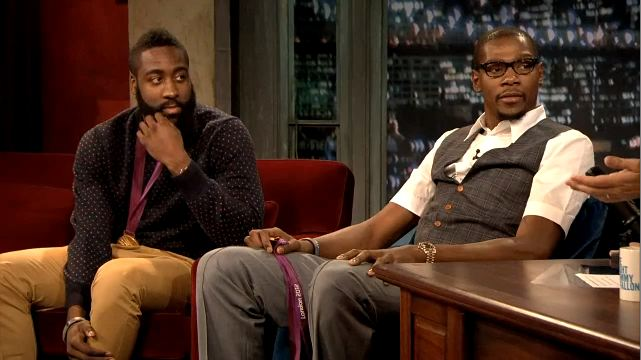 Kevin Durant And James Harden On Jimmy Fallon Last Night