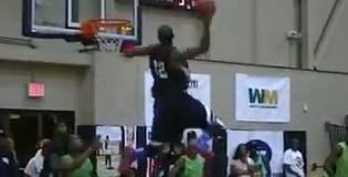 Lamonte Ulmer Gets Head To RIM Level On In-Bounds Alley Oop at the GHPA!!!