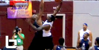 P.J. Hairston Of UNC W/ The SICK Dunk On Jerry Stackhouse At NC Pro Am!