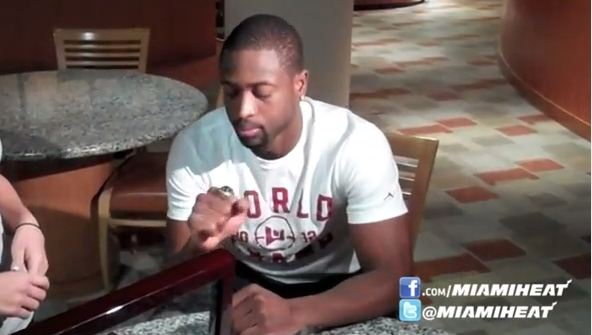 Dwyane Wade Getting Fitted For His Championship Ring [Video]