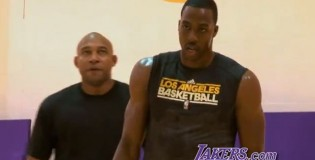 Dwight Howard Practicing & Working Out With The Lakers For The First Time [Video]