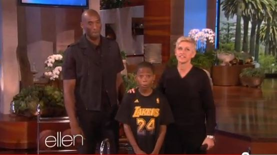 Kobe Bryant Meets A Young Fan on The Ellen Show