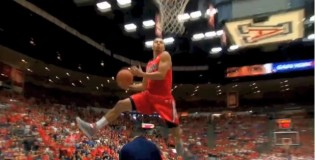Gabe York Windmills OVER His Coach, Wins Arizona Red &#038; Blue Dunk Contest In Front of Sold Out Crowd!!!