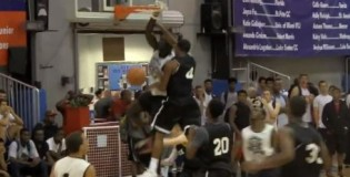 Glenn Feidanga DUNKS All Over 2 Defenders At Fall Hoops Festival!! NASTY Poster Dunk