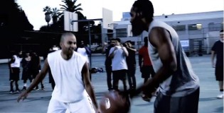 Tony Parker and James Harden Surprise Players at a Pickup Game!