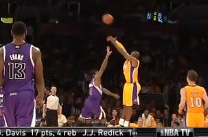 Kobe Bryant Buzzer Beater At Halftime! How Many of These Are We Going To See This Season?