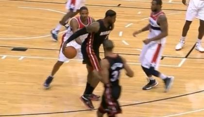 LeBron James With The Sick Ball Fake vs The Wizards! Fakes Out Trevor Ariza
