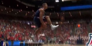 Nick Johnson CRAZY Reverse Eastbay During Arizona Red &#038; Blue Dunk Contest!!