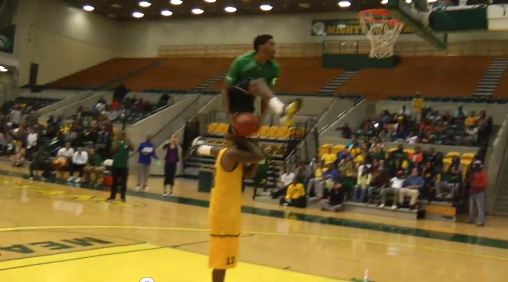 Steven Mallory NASTY Dunk OVER Teammate! Norfolk State Midnight Madness!
