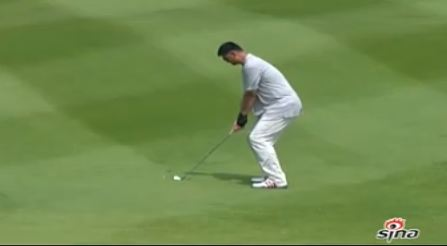 Yao Ming Channeling His Inner Tiger Woods